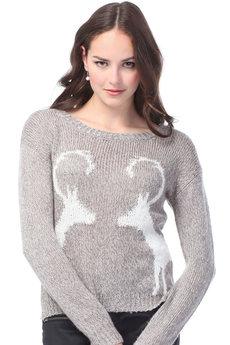 Женский свитер с оленями VIAGGIO