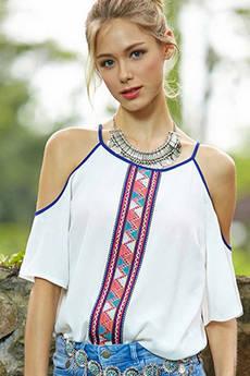 Блуза из полиэстера с открытыми плечами Kokette