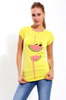 Желтая футболка Арбуз F5