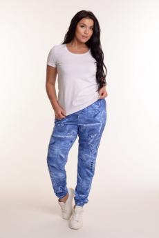 Голубые хлопковые брюки Modellini