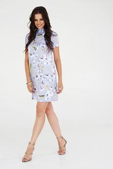 Летнее платье фиалкового цвета Angela Ricci со скидкой