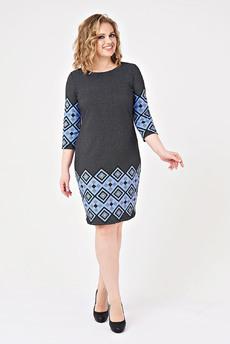 Платье с геометрическим рисунком Angela Ricci со скидкой