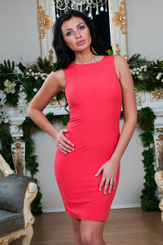 Платье с кружевной спинкой Angela Ricci